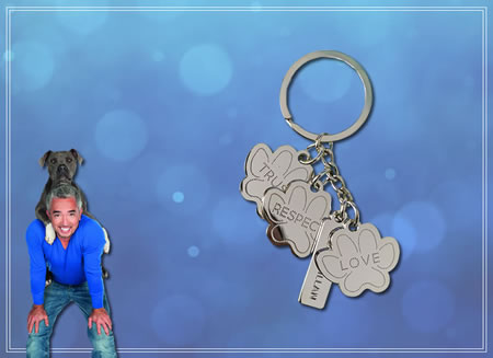 TRUST-RESPECT-LOVE - Paw Key Ring